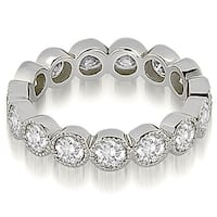 2.10 cttw. 14K White Gold Round Diamond Eternity Ring,HI,SI1-2