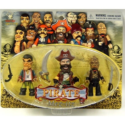 Pirate Mez Itz Figure Pack Of 3 Set B - multi