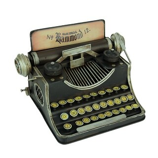 Link to Black Vintage Finish Tin Antique Typewriter Coin Bank Similar Items in Collectibles