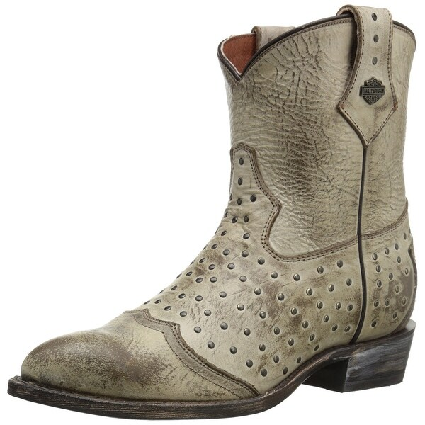 Harley-Davidson NEW Ivory Womens Shoes Size 7.5M Violet Work Boot