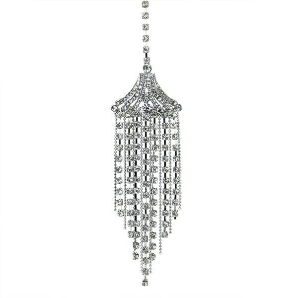 "7.5"" Seasons of Elegance Shimmering Silver Rhinestone Tassel Decorative Christmas Ornament"
