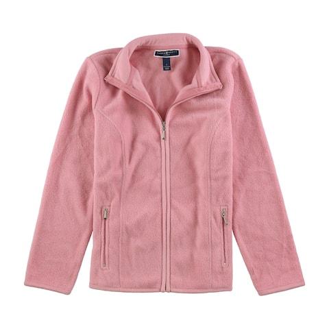 Karen Scott Womens Zeroproof Fleece Jacket