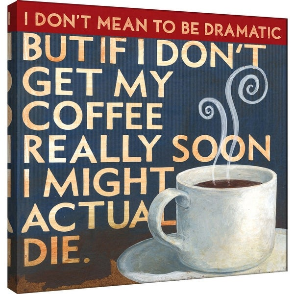 """PTM Images 9-100010 PTM Canvas Collection 12"""" x 12"""" - """"Coffee Addiction"""" Giclee Coffee Art Print on Canvas"""