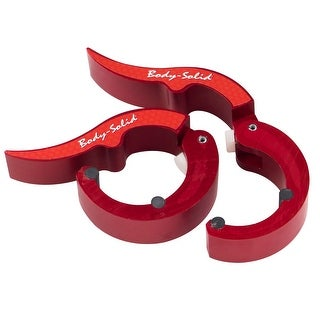 Body-Solid Tools Roepke Olympic Collars, Solid Aluminum RED (sold in Pairs)
