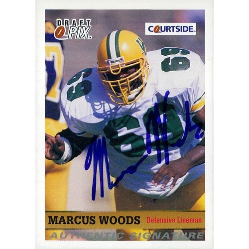 various colors 67fb6 3340f Signed Woods Marcus Oregon Ducks 1992 Courtside Football Card autographed