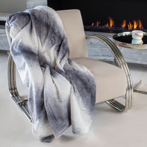 """Mon Chateau Luxury Collection 60"""" x 70"""" Ombre Textured Throw"""