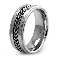 Stainless Steel Chained Biker Ring