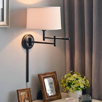 Copper Grove Marston 1-light Copper Bronze Swing Arm Wall Lamp