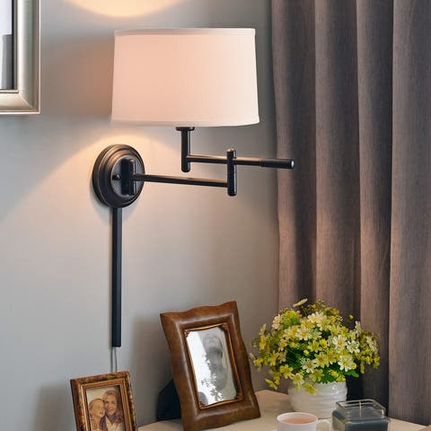 Copper Grove Marston 1-light Copper Bronze Swing Arm Wall Lamp