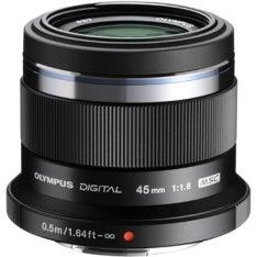Olympus V311030BU000 Olympus M.ZUIKO DIGITAL 45 mm f/1.8 Fixed Focal Length Lens for Micro Four Thirds - 37 mm Attachment -