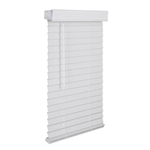 "2"" Cordless Faux Wood Blind - Sooth White"