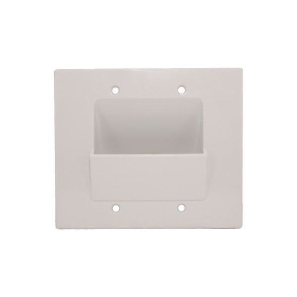 WallBlade Lite, Dual Gang Recessed Wall Plate