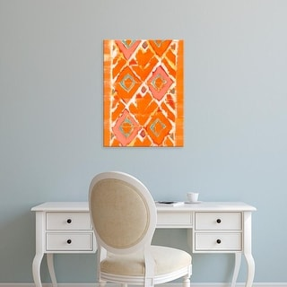 Easy Art Prints Jodi Fuchs's 'Orange Tribal II' Premium Canvas Art