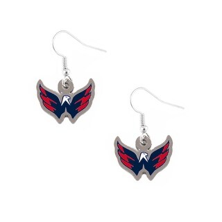 Washington Capitals Caps NHL Logo Dangle Earring Charm Set
