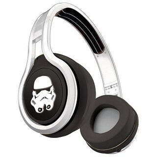 SMS Audio NEW White First Edition Over Ear Stormtrooper Headphones