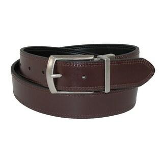 Dickies Men's Leather Reversible Jean Belt - brown to black