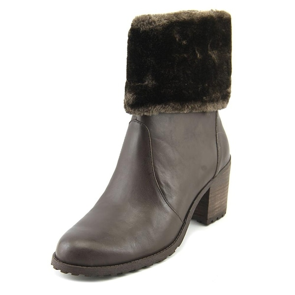 Aerosoles Incognito Women Round Toe Leather Brown Ankle Boot
