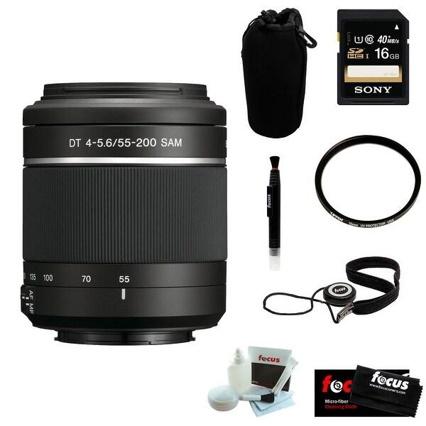 Sony DSLR Alpha SAL-552002 55-200 Telephoto Zoom Lens + Accessory Kit - Black