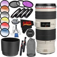 Canon EF 70-200mm f/4L IS USM Lens International Version (No Warranty) Professional Accessory Combo