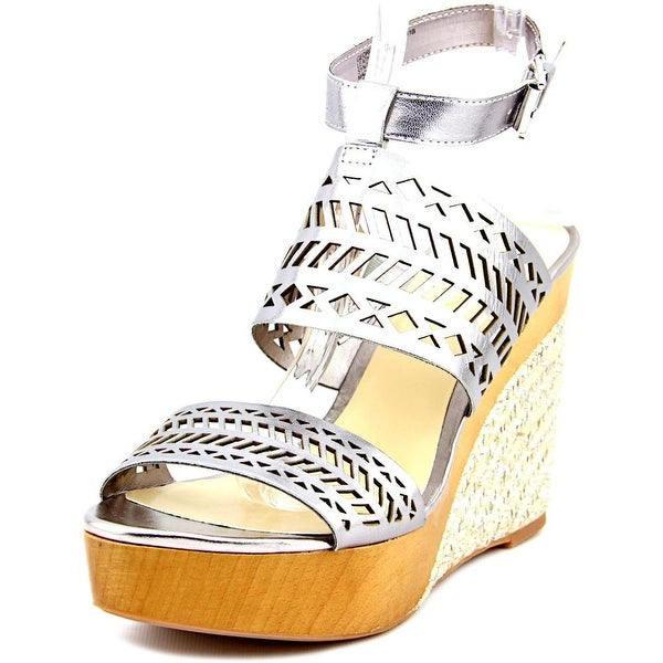 Lauren Ralph Lauren Georgina Open Toe Leather Wedge Sandal