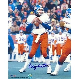 Craig Morton signed Denver Broncos 8X10 Photo (white jersey)