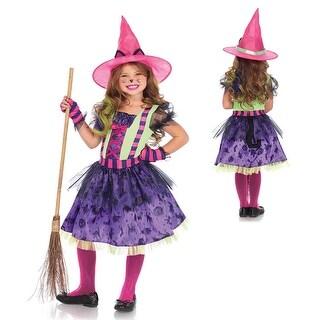 Girls Black Cat Witch Halloween Costume