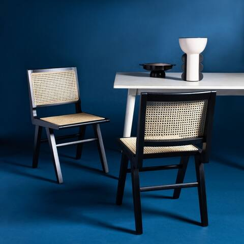 """Safavieh Couture Hattie French Cane Dining Chair (Set of 2) - 18.1"""" W x 23.2"""" L x 33.5"""" H"""