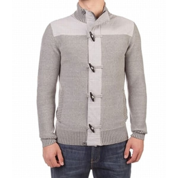 e6c7db52eb946b Shop RETROFIT NEW Heather Gray Mens Size Medium M Toggle Full Zip Sweater - Free  Shipping On Orders Over $45 - Overstock - 20667296