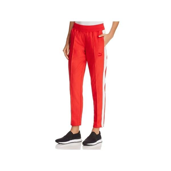 Shop Puma Womens True Archive Athletic Pants Track Colorblock - Free ... 1e6f99c4ee