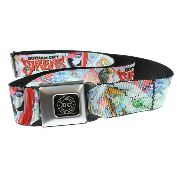 "Batman Seatbelt Belt - ""Gotham City Sirens""-Holds Pants Up"