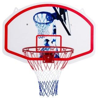 Gymax 35'' x 24'' Wall Mounted Mini Basketball Hoop Backboard & Rim Combo Indoor Sports