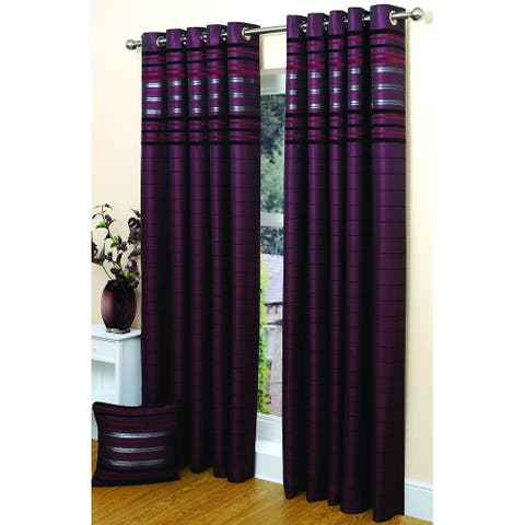 """Gouchee Home Contemporary Damson Panel with lining 54""""x96"""""""