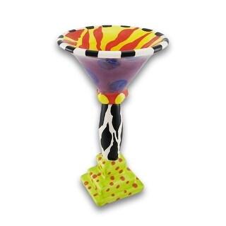 Erich Emmenegger Ceramic Jester Martini Glass