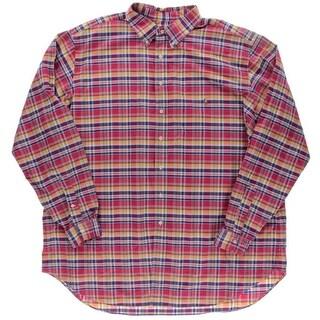 Ralph Lauren Mens Big & Tall Plaid Classic Fit Button-Down Shirt - 3lt