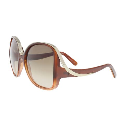 8774cc245ad2 Chloe CE714S 227 Gradient Burnt Modified Rectangle Sunglasses - 59-18-125