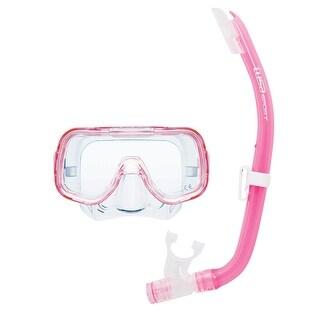 Tusa Unisex-Adult Mini-Kleio Mask Snorkel Combo Pink