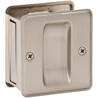 Schlage SC990B-619 Sliding Pocket Door Pull, Satin Nickel