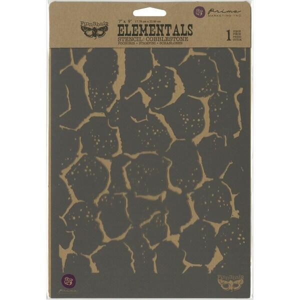 """Finnabair Stencil 7""""X9""""-Cobblestone"""