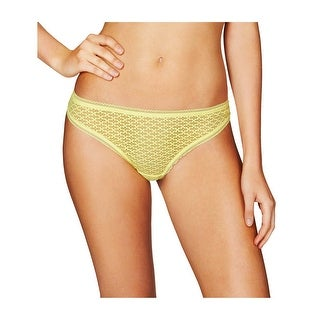 Heidi Klum Intimates Womens A Roman Crush Elfin Yellow Bikini Underwear