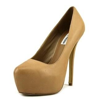 Steve Madden Delerius Women  Open Toe Leather Nude Platform Heel