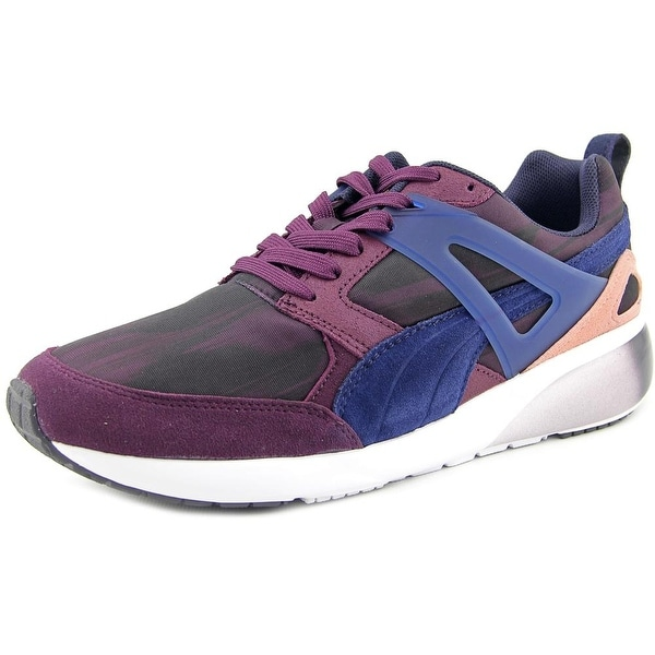 Puma Aril Fast Graphic Women  Round Toe Canvas Purple Sneakers