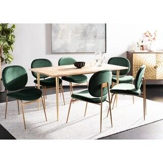 "Safavieh Jordana 18"" Round Side Chair -Malachite Green / Gold (Set of 2) - 21"" x 24.5"" x 33"""
