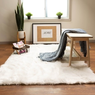 Link to Silver Orchid Parrott Faux Fur Sheepskin Area Rug Similar Items in Transitional Rugs