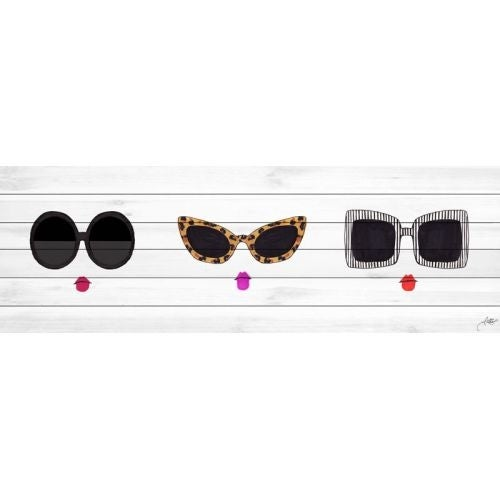 Marmont Hill Shades Horizontal Print on White Wood