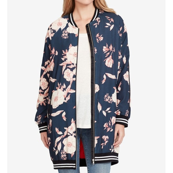 Shop Jessica Simpson Womens Large Floral Bomber Jacket - On Sale ... b5859e872