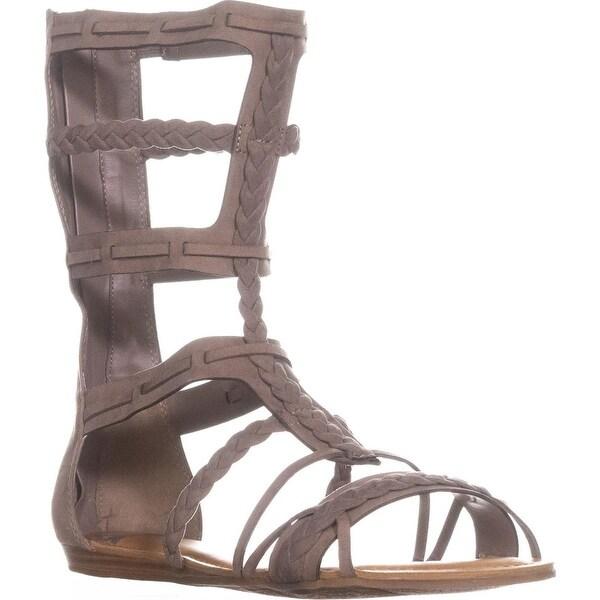 Fergalicious Zaille Mid-Calf Gladiator Sandals, Doe - 12 us / 42 eu