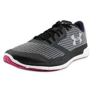 Under Armour Charged Lightning Women Round Toe Canvas Black Running Shoe