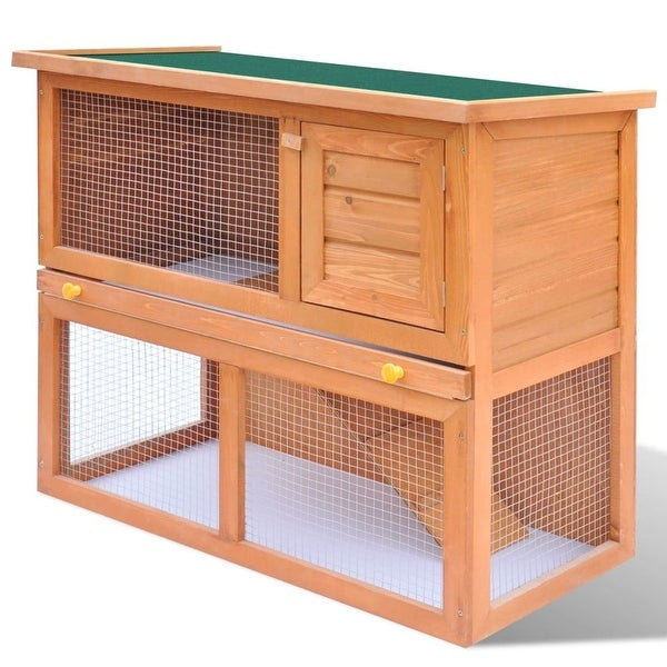 vidaXL Outdoor Rabbit Hutch Small Animal House Pet Cage 1 Door Wood. Opens flyout.