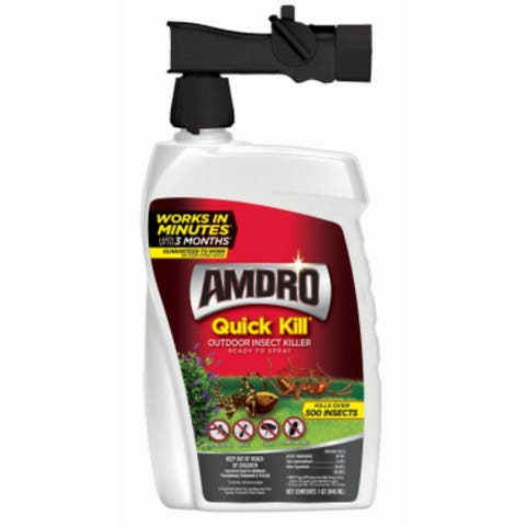 Amdro 100522991 Quick Kill Outdoor Insect Killer Spray, 32 Oz