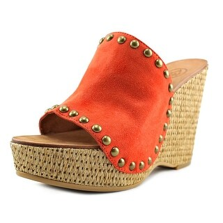 Ash Paprika Women Open-Toe Leather Orange Mules